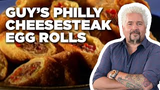Guy's Philly Cheesesteak Egg Rolls | Food Network - FOODNETWORKTV
