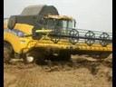 Пшеница: New Holland CX 8090 gets stuck 30.08.08