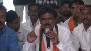 BJP Leaders Protest at Adilabad Municipal Office over Minimum Facilities in Municipal Wards|CVR News - CVRNEWSOFFICIAL