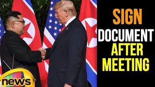 Trump-Kim summit: US president and North Korea leader sign document after meeting | Mango News - MANGONEWS
