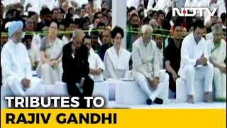 Rahul Gandhi, Priyanka Gandhi Vadra Pay Tribute To Rajiv Gandhi On His Death Anniversary - NDTV