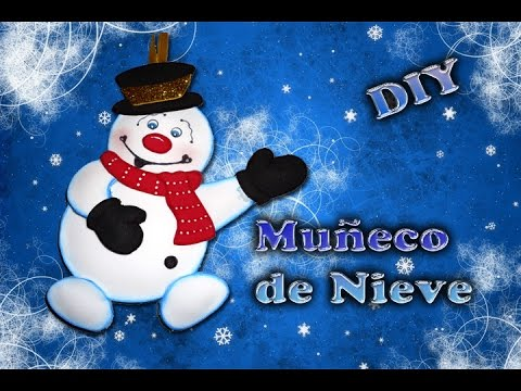 Muñeco de Nieve | frosty hecho de foamy (Goma Eva) -DIY Navideño