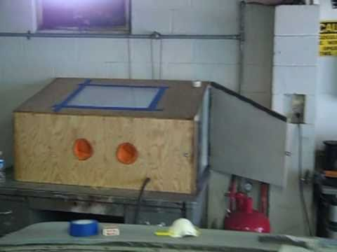 Homemade Sand Blaster Booth