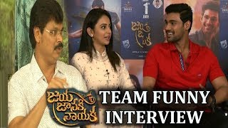 Jaya Janaki Nayaka Movie Team Funny Interview | Bellamkonda Sreenivas | Rakul Preet | TV5 News - TV5NEWSCHANNEL