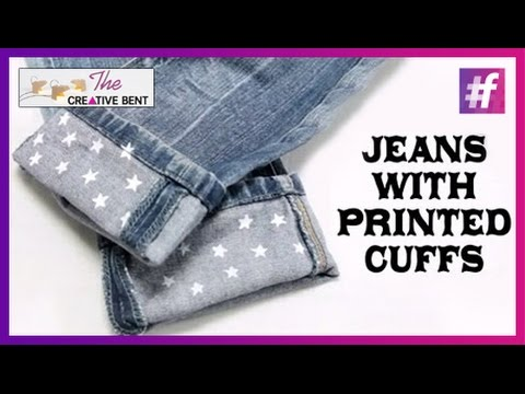 Easy DIY : Jeans with Printed Cuffs for Men and Women