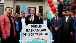 Hasan Türksel'in Diriliş Başkanları Of Şubesi açılış konuşması