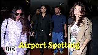 Airport Spotting: Deepika, Anushka, Khan Brothers - IANSLIVE