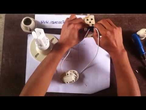 Cómo conectar un foco con interruptor simple parte 2