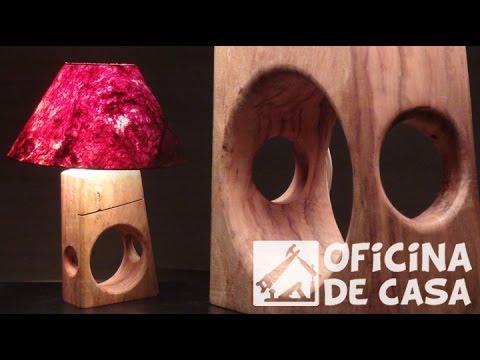 Como fazer um abajur com madeira reciclada