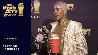 Keiynan Lonsdale Reacts to Winning Best Kiss Award | 2018 MTV Movie & TV Awards - MTV