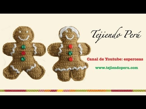 Galletas de jengibre (gingerbread cookies) en crochet