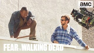 'Morgan's Roof Rescue' Making of Ep. 415 BTS | Fear the Walking Dead - AMC