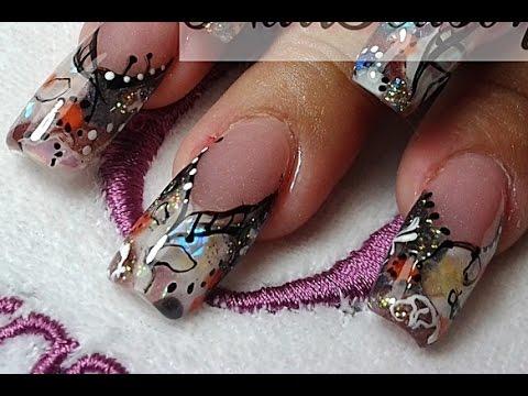 uñas decoradas faciles de hacer / como hacer uñas acrilicas paso a paso 2014