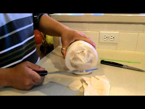 How to cut open a young Thai coconut