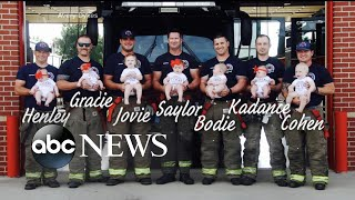 Photographs capture baby boom at fire department - ABCNEWS