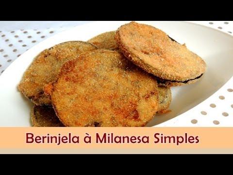 Como fazer berinjela à milanesa simples - Sabor no Prato