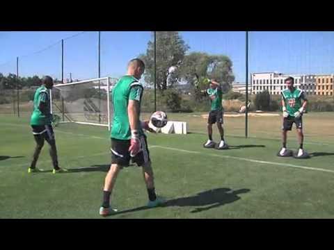 Premier entrainement spécifique pour les gardiens de buts