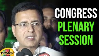 Randeep Surjewala addresses Media On Congress Plenary Session | Mango News - MANGONEWS