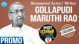 Renowned Actor & Writer Gollapudi Maruthi Rao Interview - Promo || Akshara Yathra With Mrunalini #19 - IDREAMMOVIES