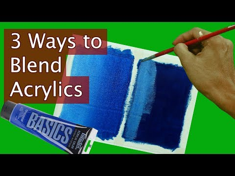 basic acrylic paint blending