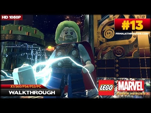 Lego Marvel Superheroes Walkthrough - Bifrosty Reception (1/2) (X1/360/PS4/PS3/PC) [1080p HD) Co-Op