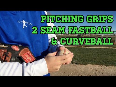 Baseball Pitching Grips - 2 Seam, Curveball