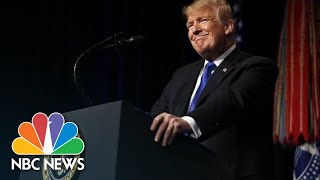President Donald Trump Praises Space Force: 'No Substitute For American Military Might' | NBC News - NBCNEWS