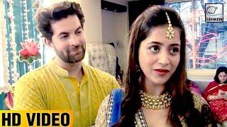 Neil Nitin Mukesh's First Ganpati Celebration After Marriage With Wife Rukmini Sahay | LehrenTV