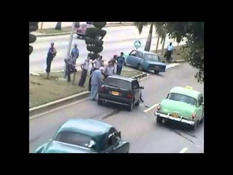 Accidentes tomados por cámaras de vigilancia en #Cuba