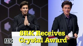 SRK Receives Crystal Award, recreates signature pose in Davos - IANSLIVE