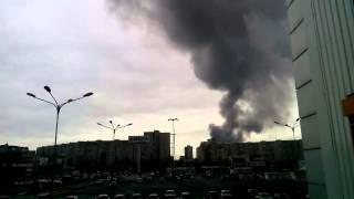 Пожар на рынке Барабашово 14.11.2015 в Харькове