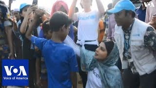 Bollywood star Priyanka Chopra visits Rohingya camp - VOAVIDEO