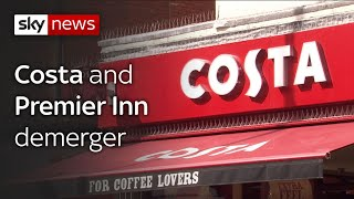 Whitbread to spin off Costa Coffee from its other interests to please investors. - SKYNEWS
