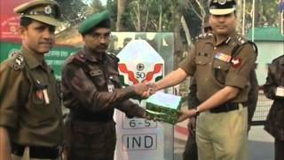 26 Jan, 2015 - Indian border guards exchange sweets with their Bangladesh counterparts - ANIINDIAFILE