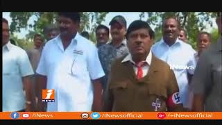 TDP MPs Protest At Parliament | MP Siva Prasad Protest With Hitler Getup | iNews - INEWS