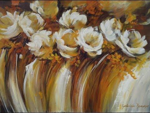 Como pintar un cuadro con texturas - Gabriela Mensaque