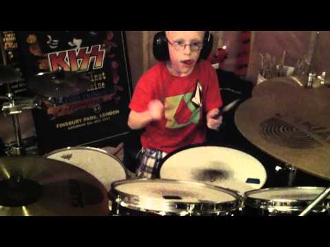 8yr old JAXON drums MASTER OF PUPPETS with band KINGDOM OF FEW
