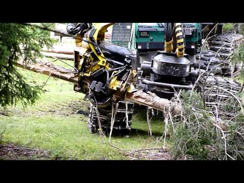 Timberjack 1470D Wheeled Harvester in action