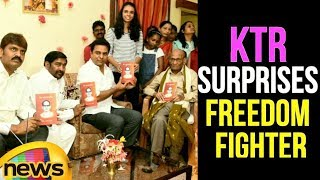 KTR Surprises Freedom Fighter On His Birthday | KTR Latest Speech | News Updates | Mango News - MANGONEWS
