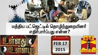 "Ullathu Ullapadi 17-02-2015  ""Expectations of Industrial Sector in Budget 2015"" – Thanthi Tv Show"