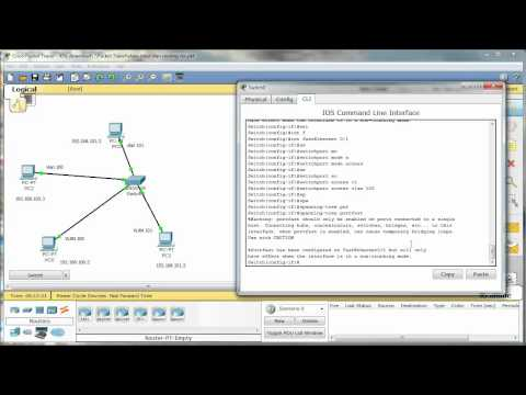 Inter-vlan routing - Cisco CCNA - Packet Tracer