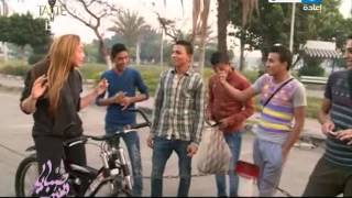 ريهام سعيد تتعرض لمعاكسة الشباب أثناء سيرها بالدراجة