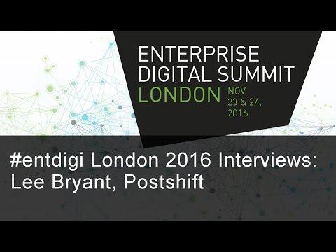 #entdigi16 Interviews: Lee Bryant, Postshift