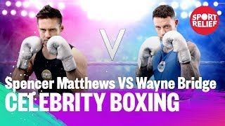 Spencer Matthews vs Wayne Bridge | Celebrity Boxing - Sport Relief 2018 - BBC - BBC