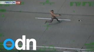 أستراليا.. مروحية تصور مطاردة مثيرة بين الشرطة ومسلحين على الطريق السريع(فيديو)