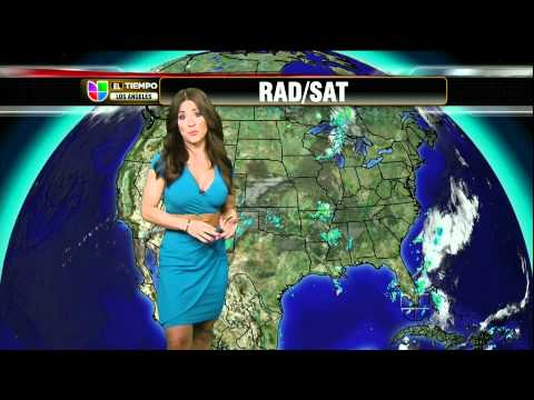 Jackie Guerrido 2011/08/17 Primer Impacto HD; Tight teal dress