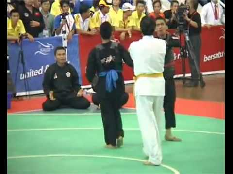 SEA Games 26 - Pencak Silat Final (Indonesia - Thailand) - what a shame gold medal