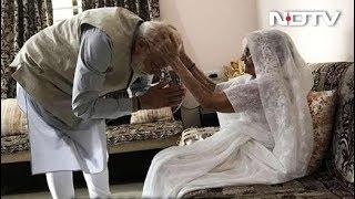 मां से आशीर्वाद लेने के बाद पीएम मोदी ने डाला वोट - NDTVINDIA