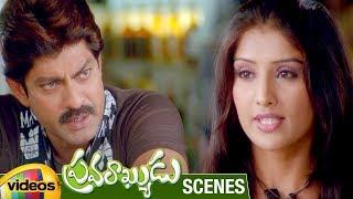 Jagapathi Babu Teases with a Girl | Pravarakyudu Movie Scenes | Jagapathi Babu | Priyamani | Sunil - MANGOVIDEOS