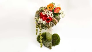 Уроки флористики Как сделать каркас для букета урок Lessons floristry How to make a frame